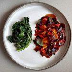שףפרטי - מנת שף - חציל שרוף עם טחינה, פיסטוקים, יוזו, שמן כמהין ופלפלים חריפים