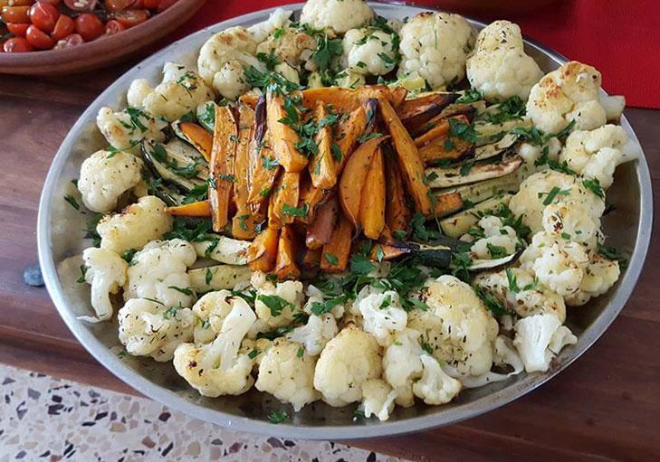 שף פרטי יאן ליברמן - פלטת ירקות עם כרובית ובטטה