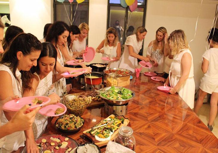 שף פרטי יניב טרנטו - שף יניב טרנטו במסיבת רווקות