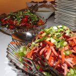 שף פרטי שי קפויה - תצוגת סלטים באירוע שף פרטי