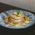 שף פרטי רם חכם - טוויל שקדים ורוטב טופי וניל על בורלה בננות