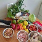שף פרטי גיא רוזן - צילום של המצרכים לפני תחילת הבישולים