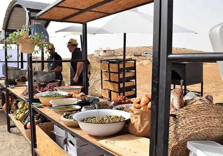 שף פרטי מאיר קרנש - תצוגת בופה מאירוע שהתקיים בשטח