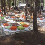 שף פרטי גיא רוזן - עריכת פינות ישיבה לאירוע בשטח בסגנון טעם השף