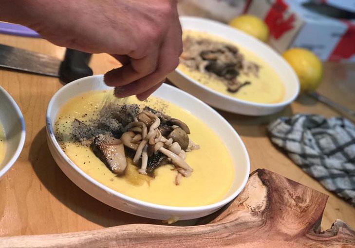 שף פרטי יניב טרנטו - פולנטה עם קרמבל פטריות ואגוזים